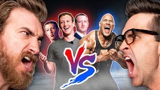The Rock Vs. 3 Mark Zuckerbergs: Who would win?