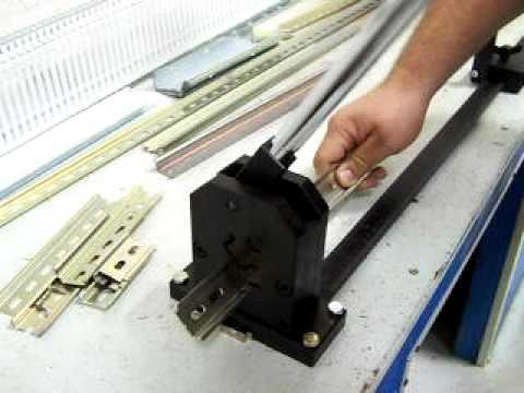 din rail cutting machine