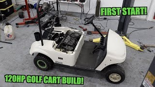 600cc Golf Cart Swap DAY 2 (This Thing Is Gunna Rip!)