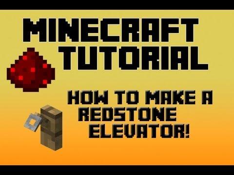 Minecraft Redstone Tutorial: Simple And Easy Redstone Elevator (2013) (HD)