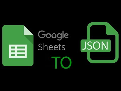 Google sheet to JSON