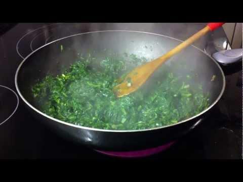 Recetas vegetarianas: revuelto de espinacas - ideas de recetas vegetarianos con espinacas