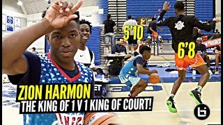 Zion Harmon Is The KING of 1 v 1 King Of The Court!!! SAUCED UP All The All Americans!!