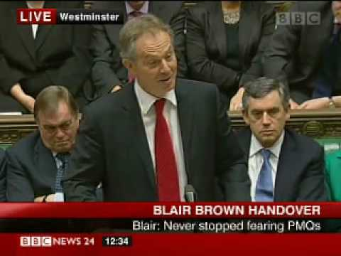 Tony Blair's standing ovation at final PMQ's - BBC News