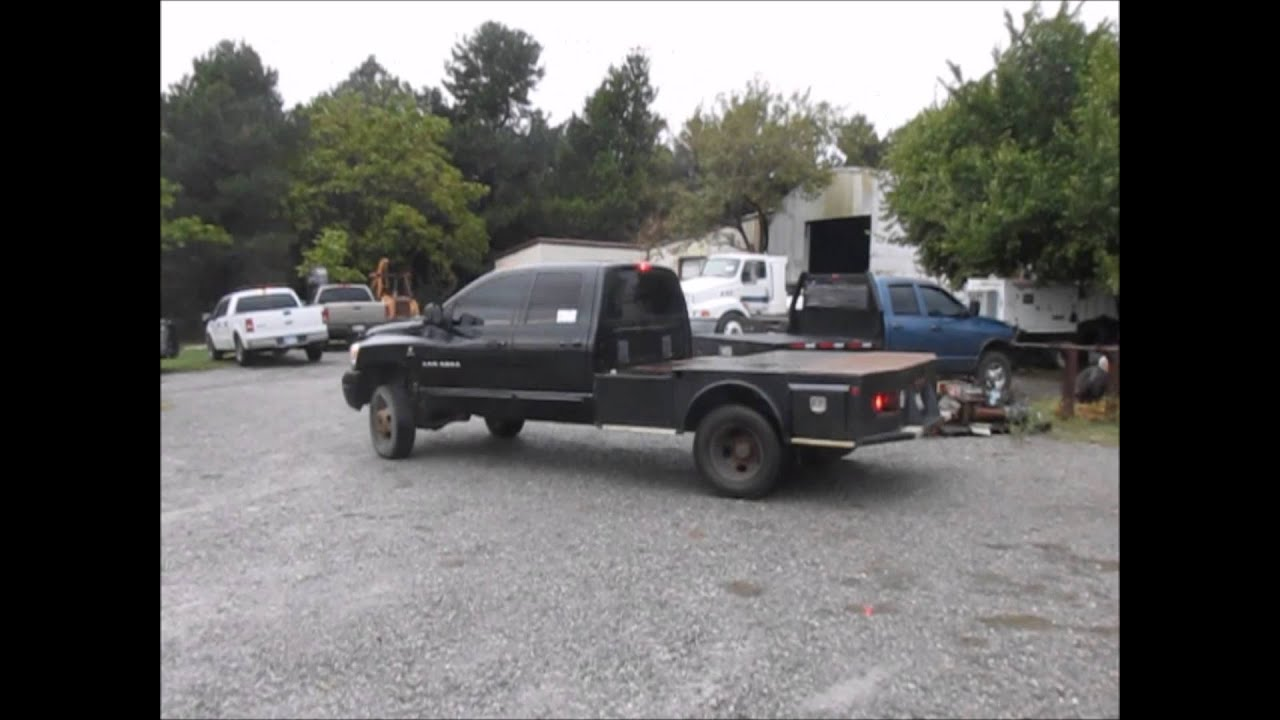 2006 Dodge Ram 3500 Quad Cab Flatbed Truck For Sale Sold