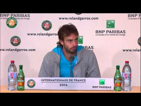 Roland Garros 2014 Tuesday Interview Gulbis