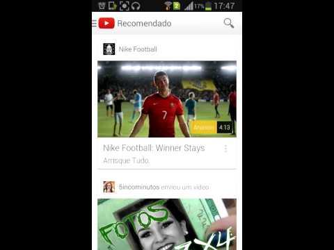 Como copiar o link url do You tube no Android