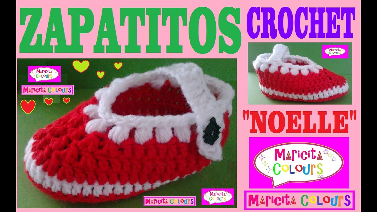 Crochet Tutorial Zapatitos : Crochet Tutorial Bebe Zapatitos Noelle (Parte 1) Escarpines por ...