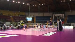 Ultimo punto secondo set A2F: Monza-Trento