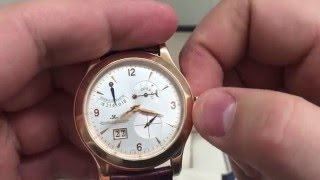 CHECKING THE Jaeger LeCoultre master control hours rose gold