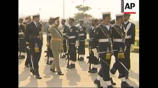 Musharraf saying goodbye to troops before taking off uniform