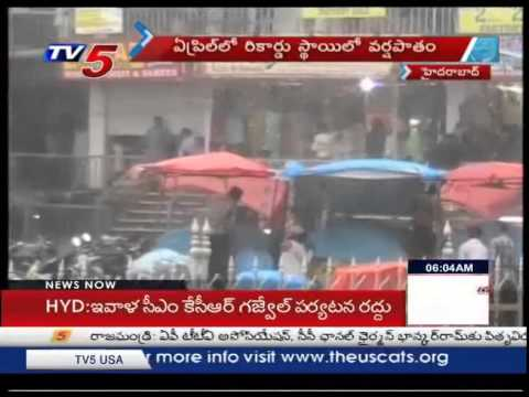Heavy Rains In Hyderabad | Traffic & Drainage Problems : TV5 News