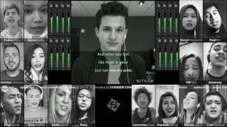 MIX 17 SMULE AT ONCE!!! Charlie Puth - One Call Away [sound like a choir!]