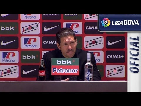 Rueda de Prensa de Simeone tras el Athletic Club (1-2) Atlético de Madrid - رياضي أتليتكو - HD