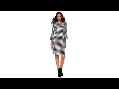 Wendy Williams Flounce Sleeve Sheath Dress