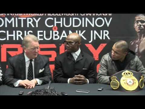 CHRIS EUBANK JNR - POST FIGHT PRESS CONFERENCE WITH CHRIS EUBANK & FRANK WARREN / RISKY BUSINESS