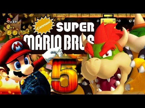 Cannon Super Mario Bros. Wii - Let's Play Cannon Super Mario Bros. Wii Part 5: Mario World Castle Reloaded [ENDE] -uscT5XlUQ1c