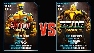 REAL STEEL WRB Atom Gold VS ZEUS Gold New Robots GOLD UPDATE (Живая сталь)