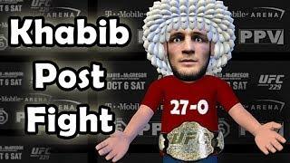 Khabib Nurmagomedov post fight- sorry Vegas  - UFC 229
