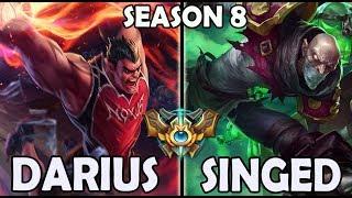 Best Darius Korea vs Singed TOP Ranked Master