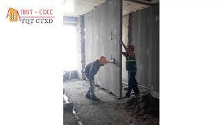 Thi công tấm tường lắp ghép Acotec Xuân Mai | Vật liệu NHẸ làm tường