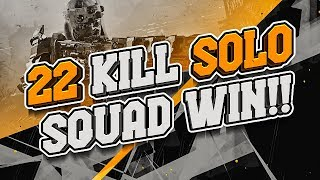22 KILL SOLO SQUAD WIN!! (Call of Duty: Blackout)