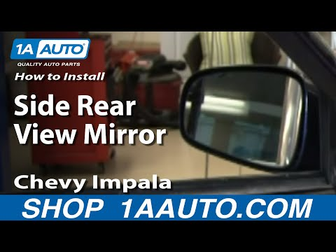How To Install Replace Side Rear View Mirror Chevy Impala 00-05 1AAuto.com