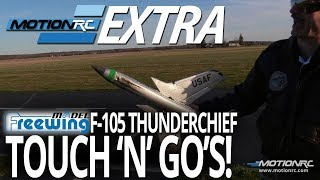Freewing F-105 Thunderchief Touch-and-Go's! - Motion RC Extra