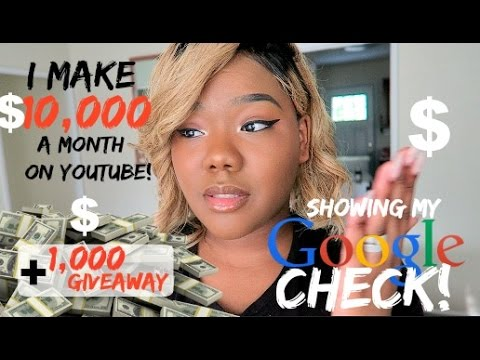 I Make $10.000 A Month On JUST Youtube   Showing My Checks + $1.000 Giveaway & Charity News!!