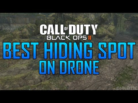 Black Ops 2 Glitches: Best Hiding Spot on Drone! NEW!
