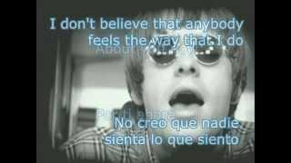 Oasis Wonderwall Letra Español Ingles