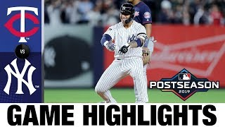 DJ LeMahieu drives in 4 runs as Yankees dominate in 10-4 Game 1 win | Twins-Yankees ALDS Highlights