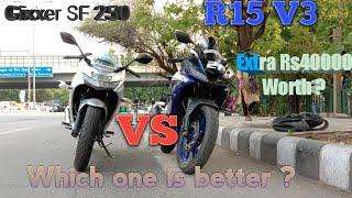 Suzuki Gixxer sf250 vs yamaha R15 V3 : Comparison in Hindi