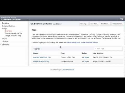 Previewing and Publishing Tags with Google Tag Manager