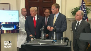WATCH LIVE: President Trump announcement on a pharmaceutical glass packaging initiative