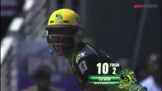 Andre Russell smashes 10 off final 2 balls for a win