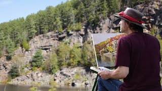 Adventure Plein Air Painting - Algonquin Park, Ontario: Rock Lake with Men Who Paint