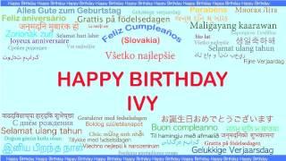 Ivy   Languages Idiomas - Happy Birthday