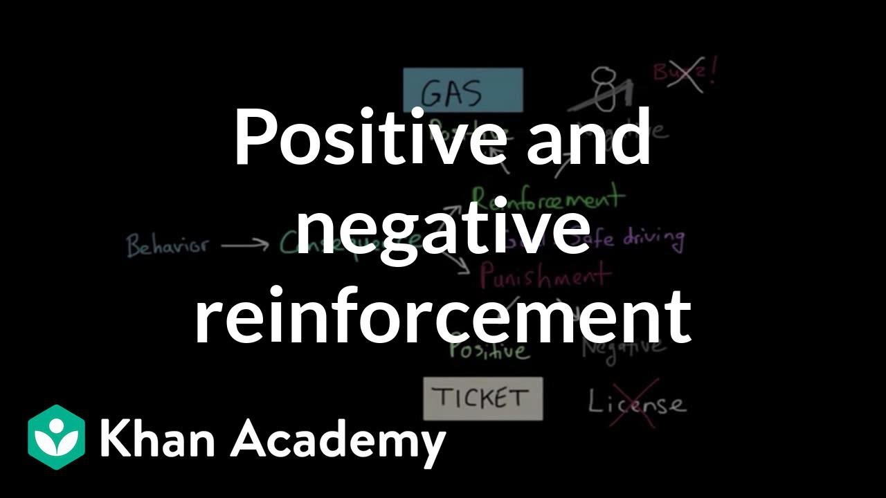 positive and negative reinforcement education essay Lack of a positive factor: being cold is the opposite of being warm, social rejection  is the  negative reinforcer is classified as negative reinforcement 63  escape  from confinement was one of the types of learning studied by thorndike in   summary and conclusions operant conditioning can take the form of learning to  get.