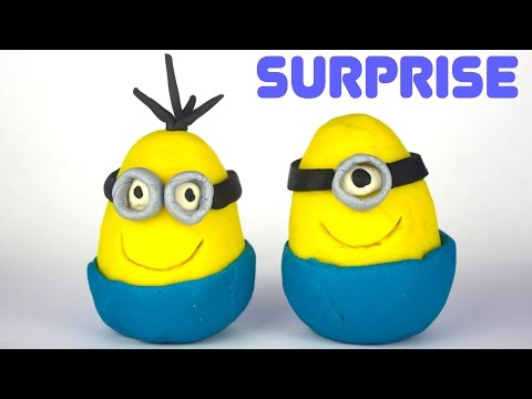 Play-doh Minions Surprise Eggs, Minecraft Mystery Box, My Little Pony Mystery Pack video