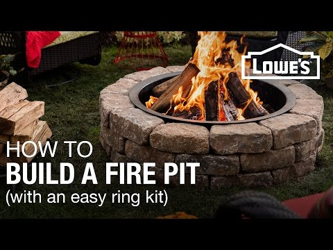 How To Build a Fire Pit (w/ a Ring Kit)