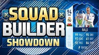 FIFA 18 SQUAD BUILDER SHOWDOWN!!! CHAMPIONS LEAGUE FINAL MOTM BALE!!! 94 Rated Bale