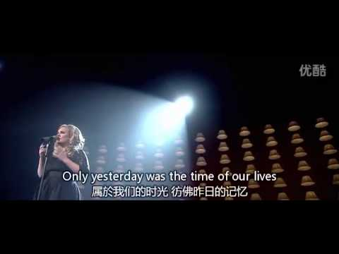 Adele - Someone Like You [皇家亞伯廳-中英歌詞] video