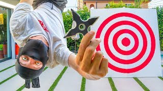 NINJA TRICK SHOTS!! (Throwing Star Edition)