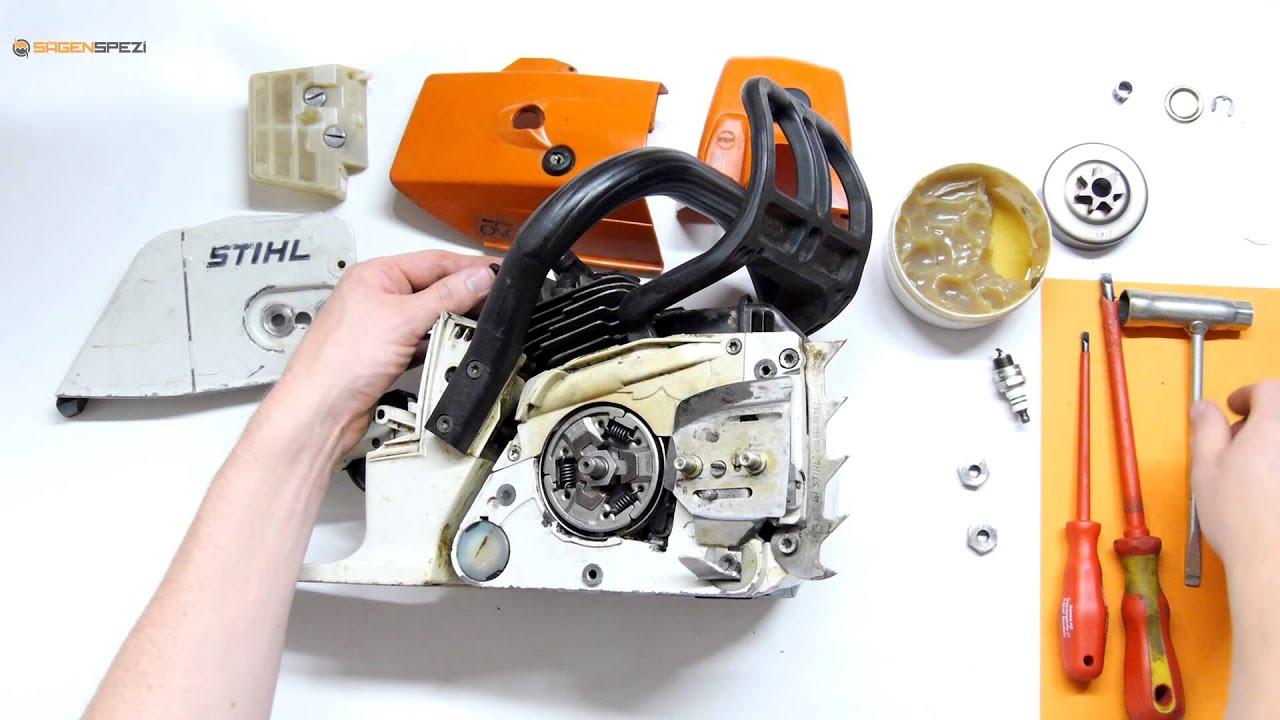 kupplung und kettenrad austauschen bei einer stihl motors ge youtube. Black Bedroom Furniture Sets. Home Design Ideas