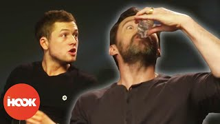 Hugh Jackman Downs Gin Bottle In Interview | FUNNY FULL INTERVIEW