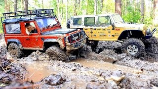 RC Extreme Pictures — RC Cars OFF Road 4x4 Adventure — Mudding 4x4 Trucks Jeep VS Land Rover Part 2