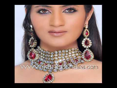 Heavy Bridal Jewelry Set, Pakistani Indian Wedding Jewelry