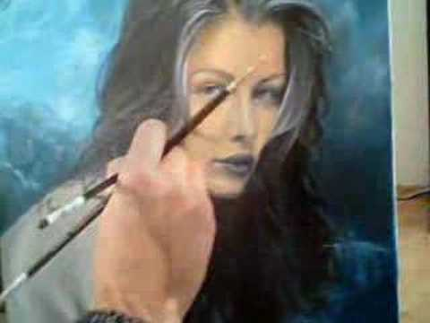 Laetitia Casta - Oil Painting - Part 3 facebook: bernardo da vinci