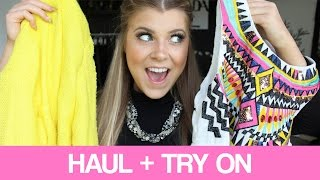 MINI CLOTHING HAUL + TRY ON!